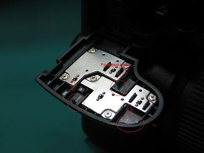 Polomljena vratanca fotoaparata