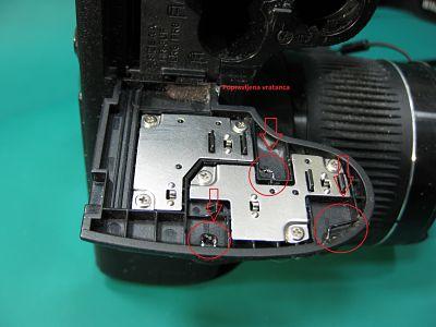 popravka poklopca baterija