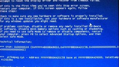 plavi ekran na laptopu