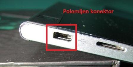 polomljen konektor punjenja